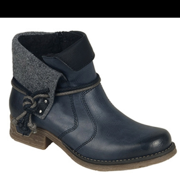 Rieker Fee 93 Ankle Boots In Navy Blue